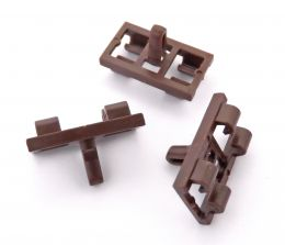 BMW X5 E53 Lower Door Weatherstrip Rubber Seal Clips- Brown 51337052945