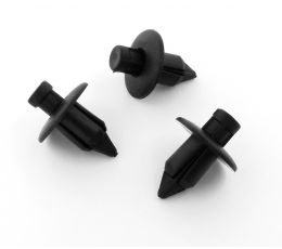 Suzuki Black Plastic Rivets- Trim Clips for Bumpers, Sideskirts, Sills & Fairing 09409-07308-5PK