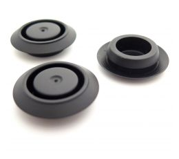 Black Blind Grommet / Blanking Plug, 18mm Hole, 2mm Panel