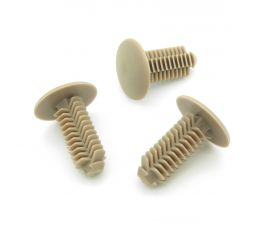 Fir Tree Trim Panel Clips- 8mm Hole- 18mm Head, Beige, Perfect for VW van linings