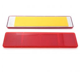 Red Large Rectangular Reflector, Self-Adhesive, 173mm x 40mm