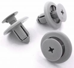 8mm Grey Easy Release Trim Clips
