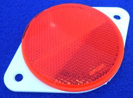 80mm Red Reflector on Mounting Plate