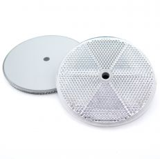 White Circular Reflector with Centre Hole, 76mm