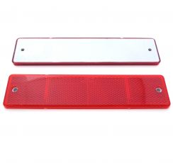 Red Large Rectangular Reflector, Screw Mounts, 173mm x 40mm