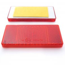 Red Rectangular Reflector, Self-Adhesive, 69mm x 31.5mm